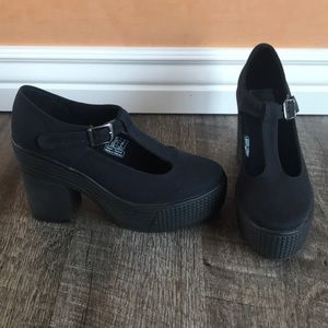 🖤 Jeffrey Campbell JC Play canvas mary jane shoes